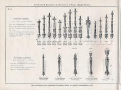 DOM_AG_1928_PL73 – Torches rondes et carrées pour entourages à chaînes