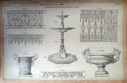 DUC_VO_PL076_F321 – Balcons de terrasse et de croisées – Barres d'appui, coupe, vase, vasque