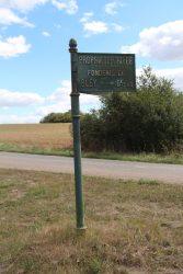 Poteau indicateur – Hameau de Bley – Auvet-et-la-Chapelotte