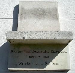 Monument à René Jacquemaire Clemenceau – Paris (75015) (fondu)