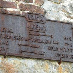 Marbaix plaque cocher