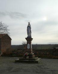 Vierge de Lourdes – Place du 19 mars 1962 – Mauvaisin