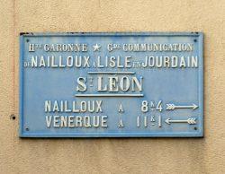Plaque de cocher – Rue de la République – Saint-Léon