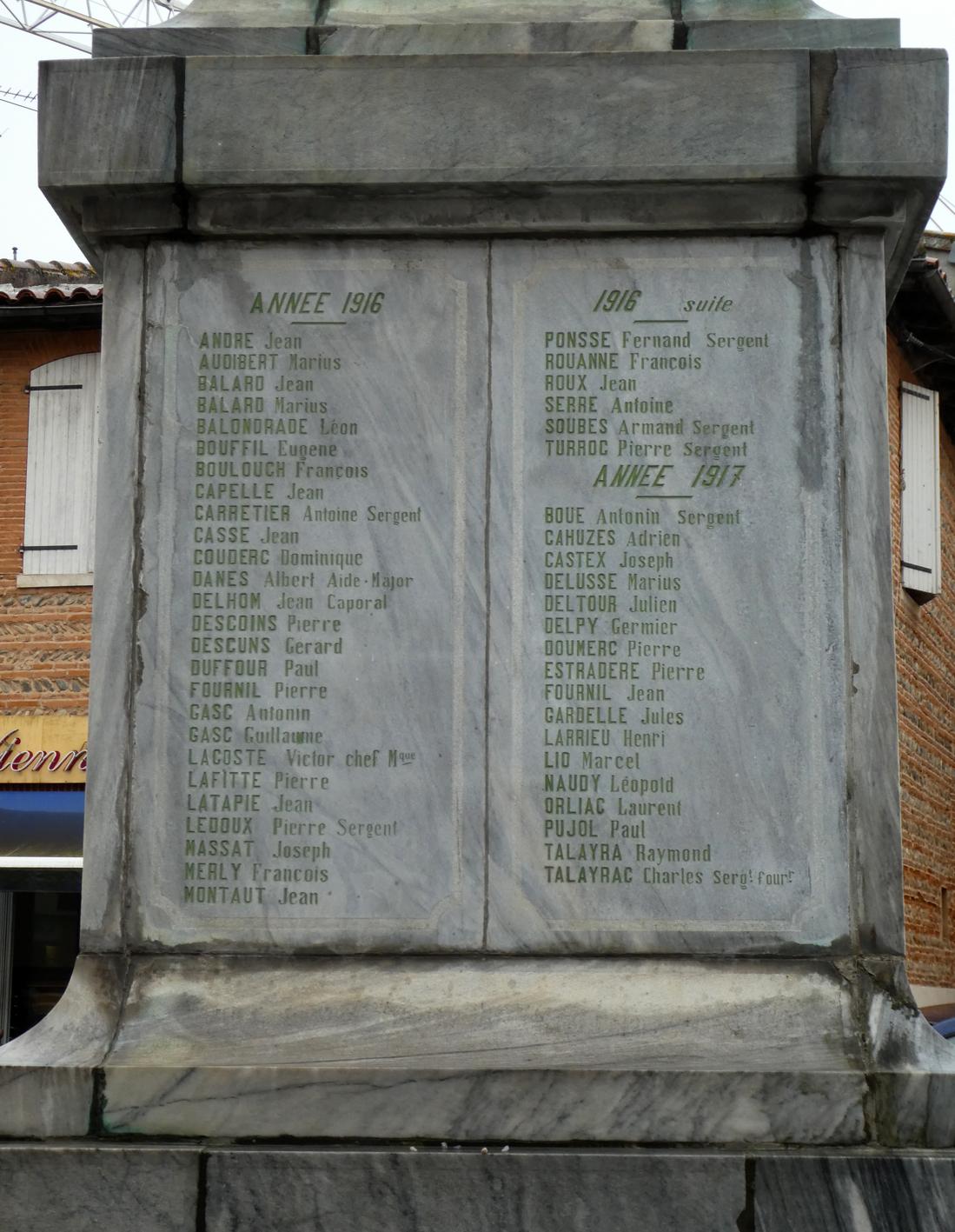 Monument aux morts de 14-18 - Place de la Paix - Muret - Image11