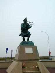 Statue de Piper Bill Millin – Boulevard Maritime – Colleville-Montgomery
