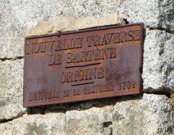 Plaque de cocher – Avenue Jean Jaurès – Sartène
