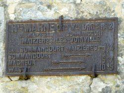 Plaque de cocher – Grande Rue – Maizières-lès-Joinville