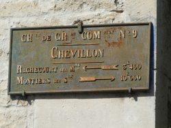 Plaque de cocher – Rue de la Landre – Chevillon