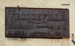 Plaque de cocher – Rue du Général de Gaulle – Vecqueville