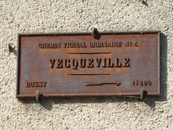 Plaque de cocher – Rue Victor Hugo – Vecqueville