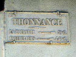 Plaque de cocher – Rue du Général de Gaulle – Thonnance-lès-Joinville