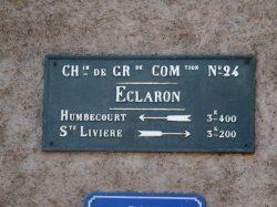 Plaque de cocher – Rue de l'Hôpital – Éclaron