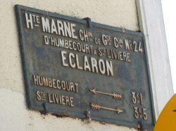 Plaque de cocher – Rue de Guise – Éclaron