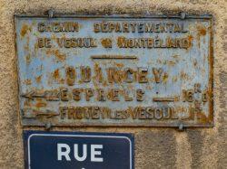 Plaque de cocher – Rue du Château – Quincey