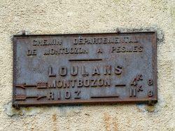 Plaque de cocher – Rue des Forges – Loulans-Verchamp