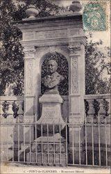 Buste d'Edmond Hézard – Route de Neuvelle-lès-la-Charité – Le Pont-de-Planches (fondu)