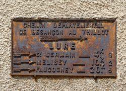 Plaque de cocher – Rue des Vosges – Lure