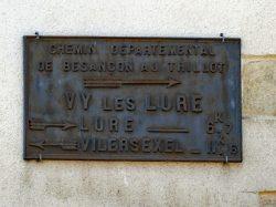 Plaque de cocher – Grande Rue – Vy-lès-Lure