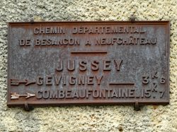 Plaque de cocher – Rue de l'Hôtel de Ville – Jussey