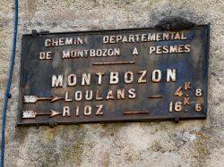 Plaque de cocher – Rue de Loulans – Montbozon