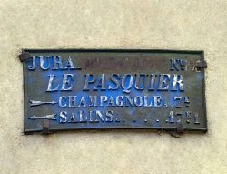 Plaque de cocher – Grande Rue – Le Pasquier