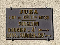 Plaque de cocher – Route des Cascades – Songeson