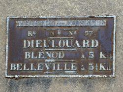 Plaque de cocher – Avenue du Général de Gaulle – Dieulouard