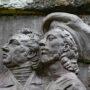 Médaillons d'Édouard et Tristan Corbière - Cours Beaumont - Morlaix - Image3