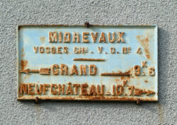 Plaque de cocher – Rue de la Gare – Midrevaux