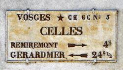 Plaque de cocher – Route de Celles – Saint-Amé
