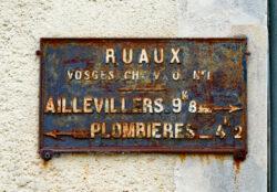 Plaque de cocher – Place Saint-Jean – Ruaux