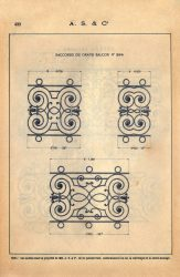 SAL_V1900_PL423 – Raccords du grand balcon n° 294