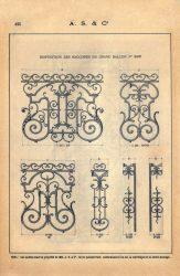 SAL_V1900_PL425 – Disposition des raccords du grand balcon n° 293