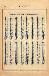 SAL_V1900_PL524 – Pilastres pour rampes et balustrades