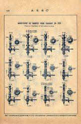 SAL_V1900_PL540 – Garnitures de rampes pour fuseaux en fer