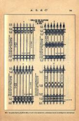SAL_V1900_PL728 – Grilles de clôture en fonte et fer