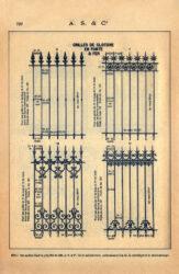SAL_V1900_PL729 – Grilles de clôture en fonte et fer