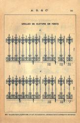 SAL_V1900_PL730 – Grilles de clôture en fonte