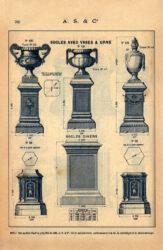 SAL_V1900_PL769 – Socles avec vases et urne