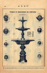 SAL_V1900_PL771 – Vasque et mascarons de fontaine