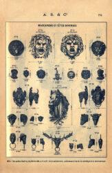 SAL_V1900_PL774 – Mascarons et têtes diverses