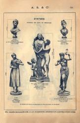 SAL_V1900_PL778 – Statues fonte de fer ou bronze