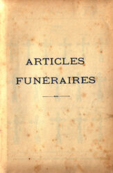 SAL_V1900_PL782/783 – Intercalaire : articles funéraires