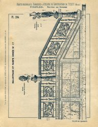 TU_DU_1897_PL294 – Balustrade et rampe ornée n° 17
