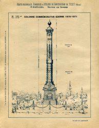 TU_DU_1897_PL373bis – Colonne commémorative guerre 1870-1871