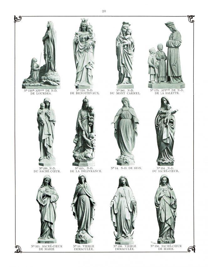 perfeclan Romain Catholique Sculpture Table de R/ésine Statue D/écoratif Figurine Figure Notre Dame de Lourdes Vierge Marie Statue 30cm Hauteur