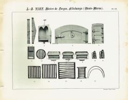 VIR_1893_PL13 – Barreaux, grilles, bouches et portes de four, coquilles à rôtir, fers à repasser, chaufferettes, arceaux